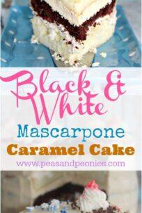 Black and White Cake with Mascarpone & Caramel