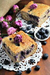 Skinny Blueberry Banana Bread is a delicious no refined sugar added, oil free, snack.
