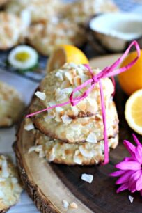Meyer Lemon Coconut Cookies