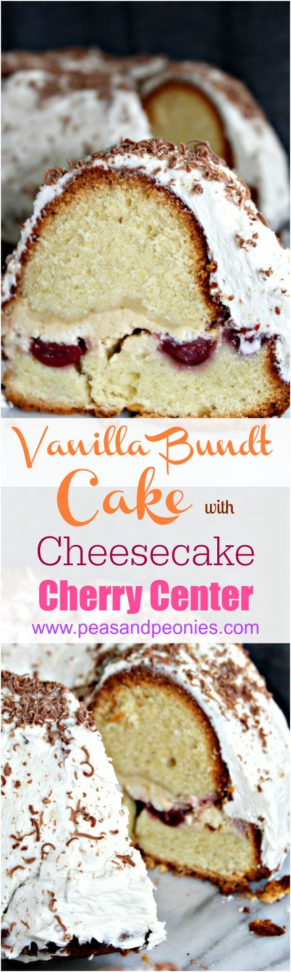 bundt cake with cheesecake center