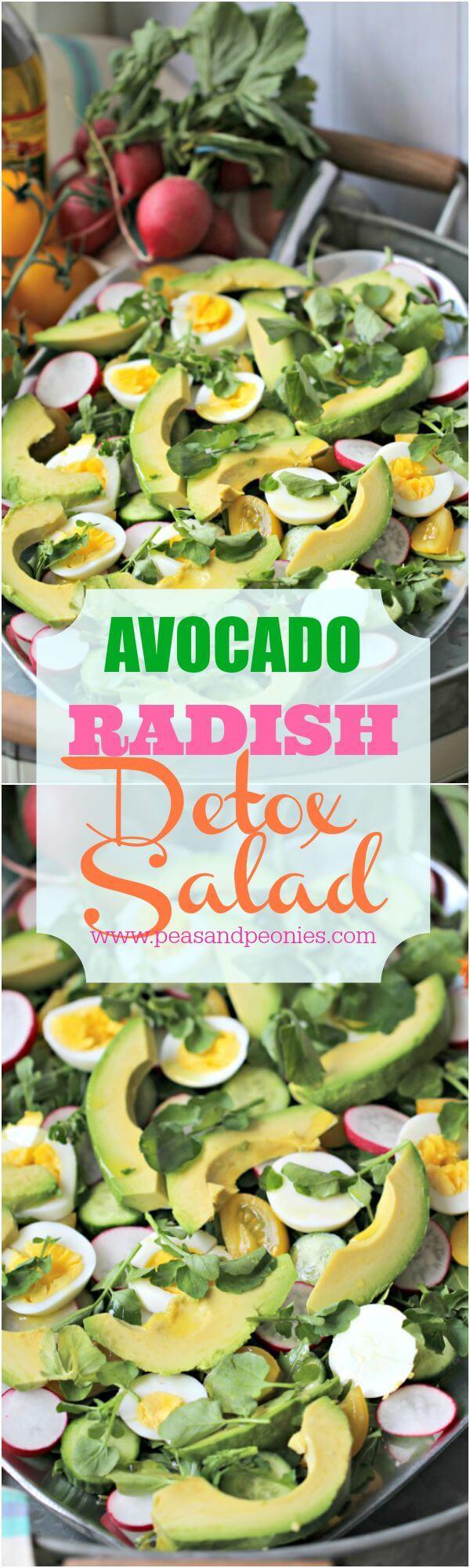 Avocado Radish Detox Salad Pin