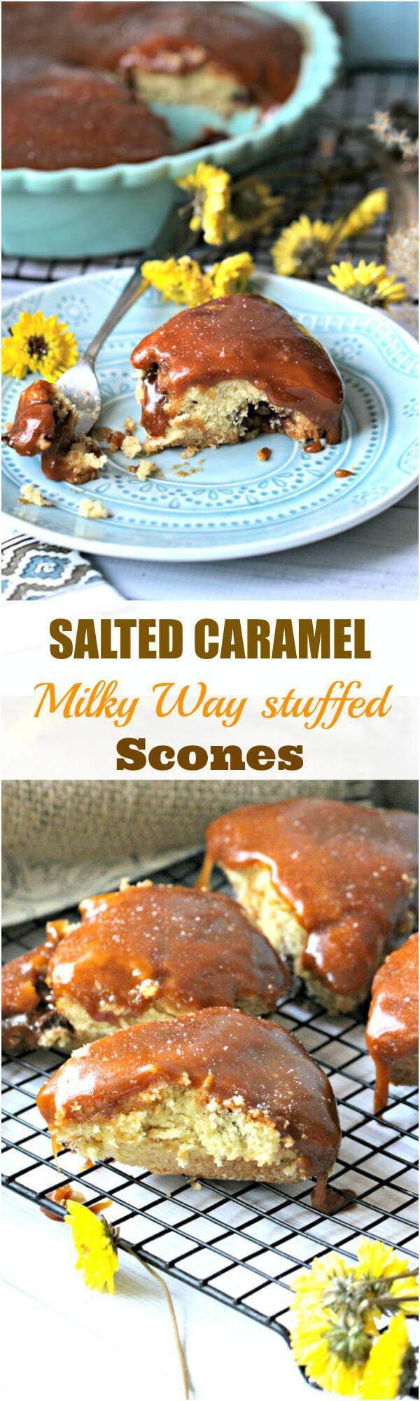 salted caramel scones