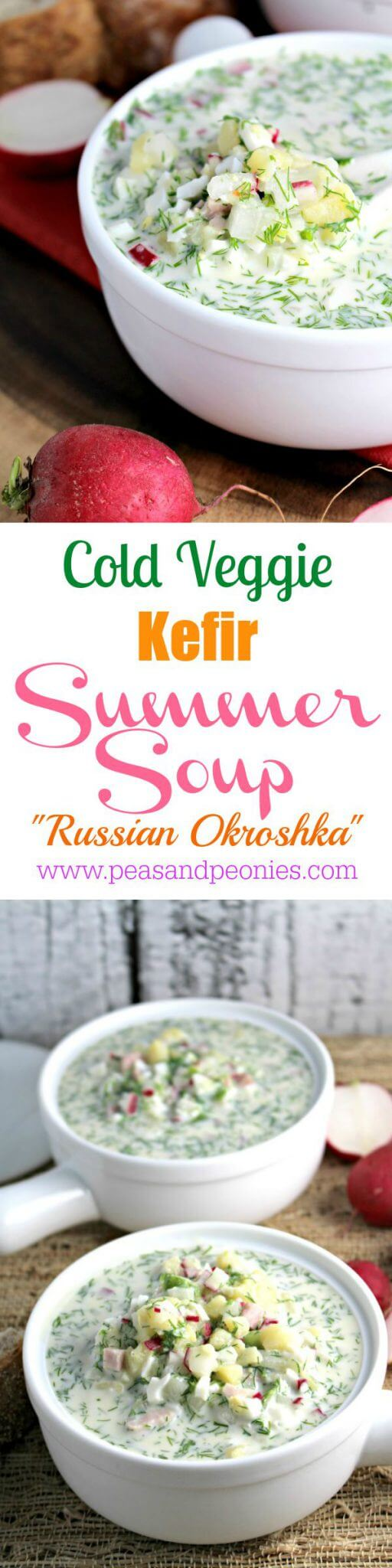 Cold Summer Soup Russian Okroshka
