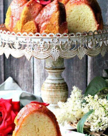 Rosewater Chiffon Cake