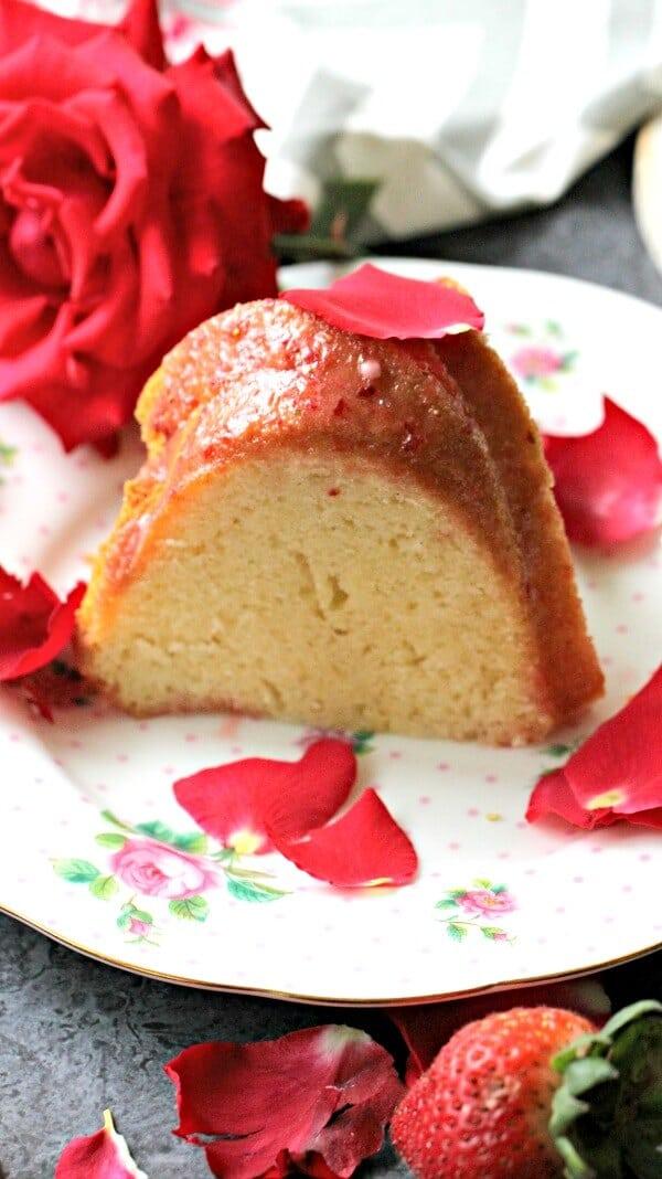 Rosewater Cake Glaze