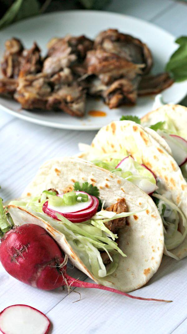 Slow Cooker Beer Ribs Tacos