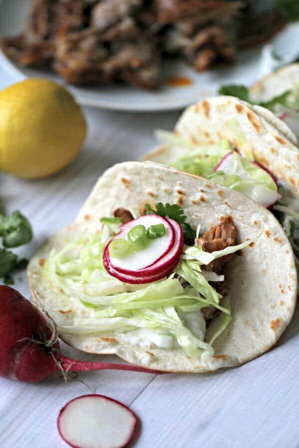 Slow Cooker Beer Ribs Tacos
