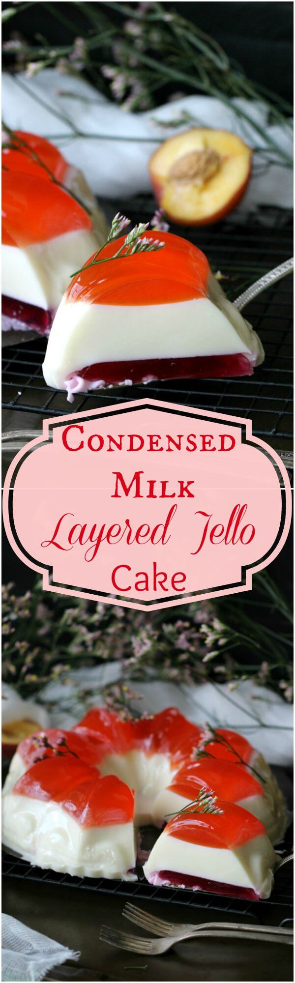 Bundt Jelly Cake With Summer Flavors and a Creamy Layer