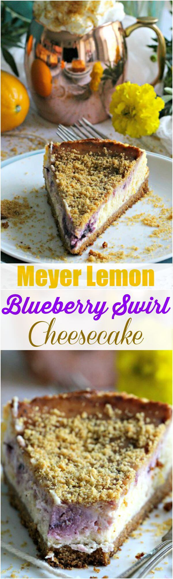 Meyer Lemon Blueberry Cheesecake Recipe