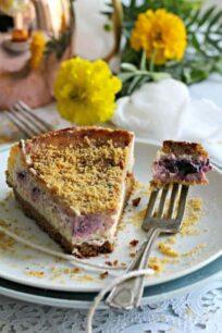 Meyer Lemon Blueberry Cheesecake