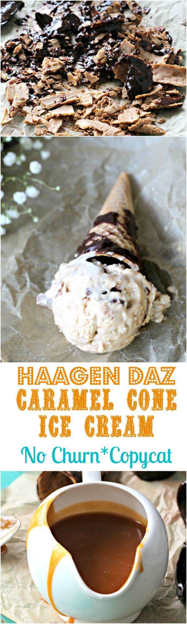 haagen daz caramel cone ice cream