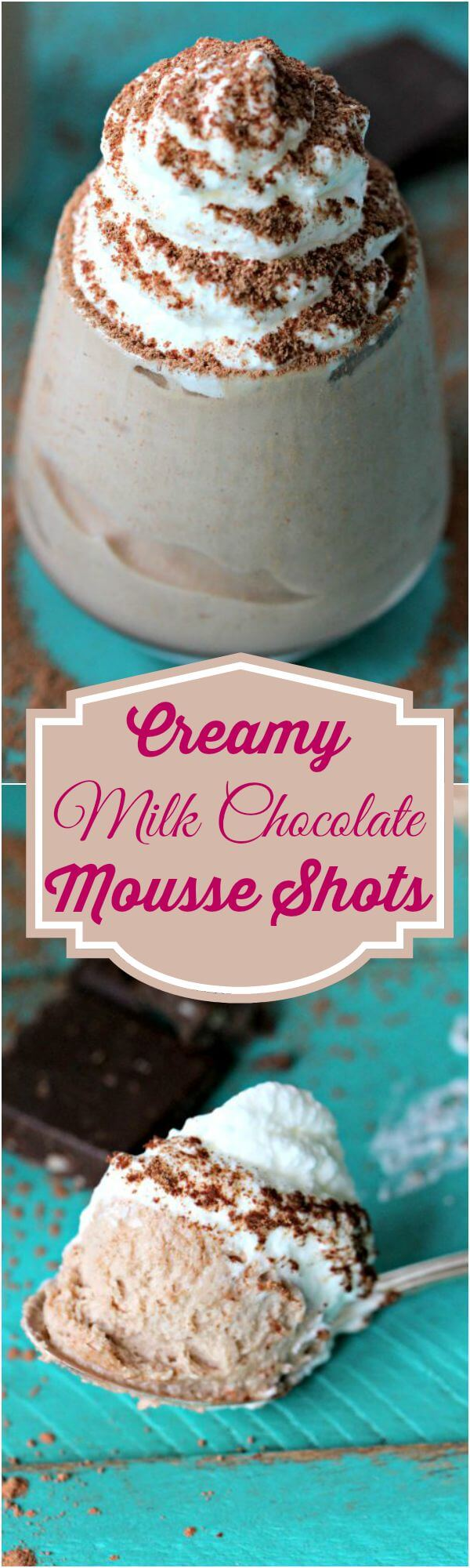 milk chocolate mousse shots