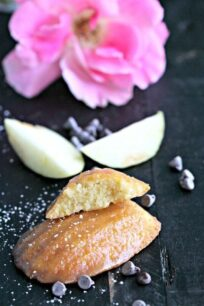 Salted Caramel Apple Madeleines
