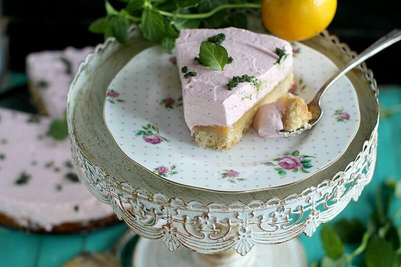 lemon bar raspberry mousse cake
