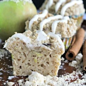 Apple Bacon Muffins with Cinnamon Frosting