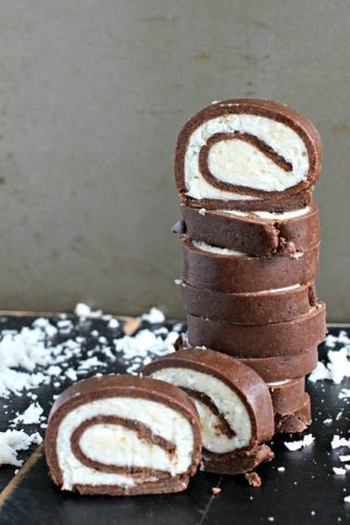 No Bake Almond Joy Roll