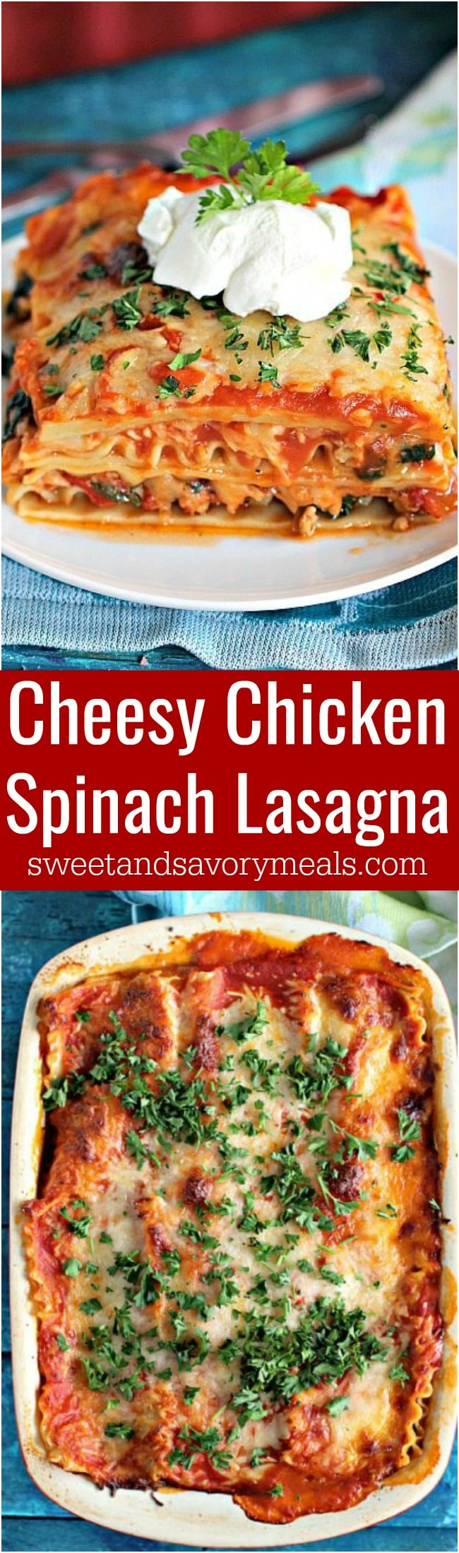 Best Chicken Spinach Lasagna is easy to make, loaded with lean chicken and spinach for a nutritional boost. Delicious, and leftovers taste amazing!