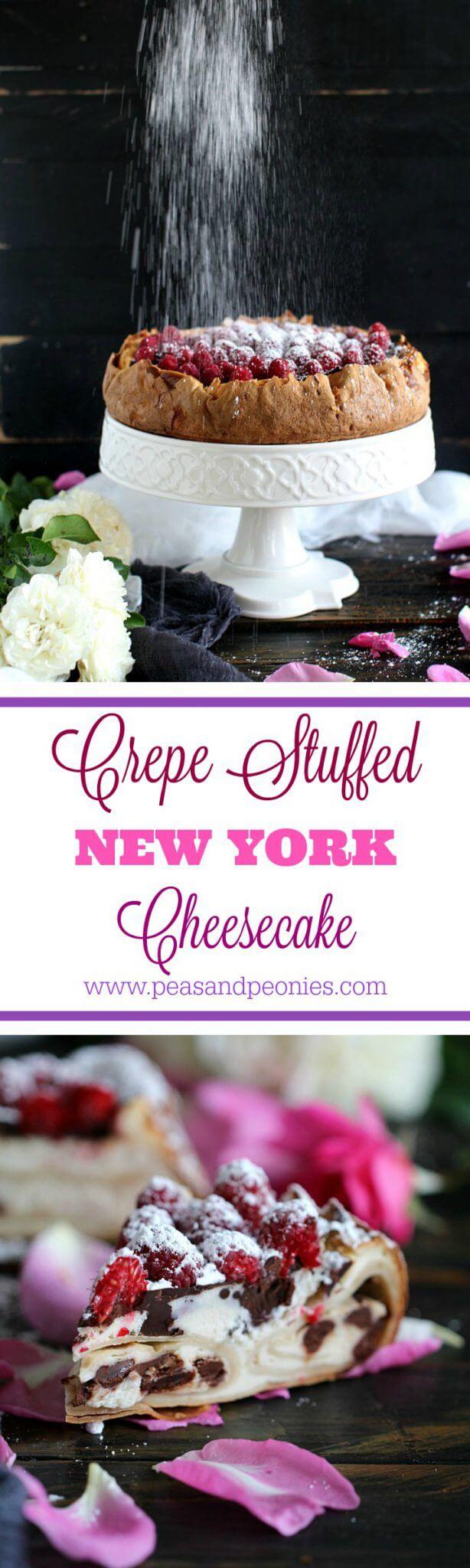 crepe stuffed New York cheesecake