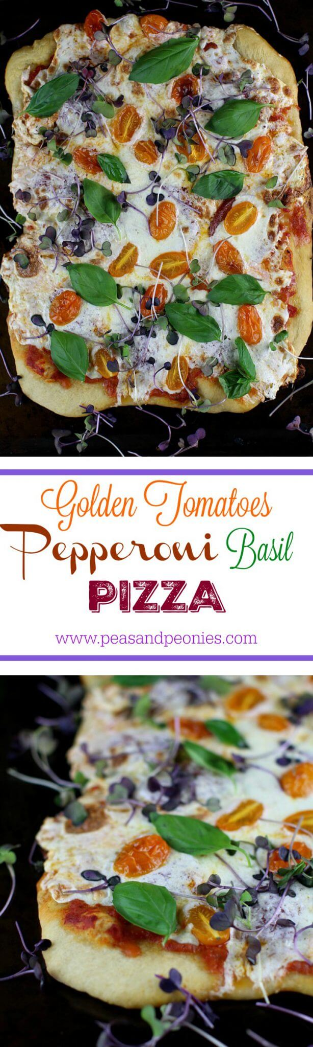 golden tomatoes pepperoni pizza
