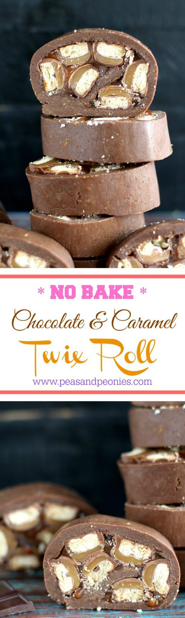 no bake twix roll