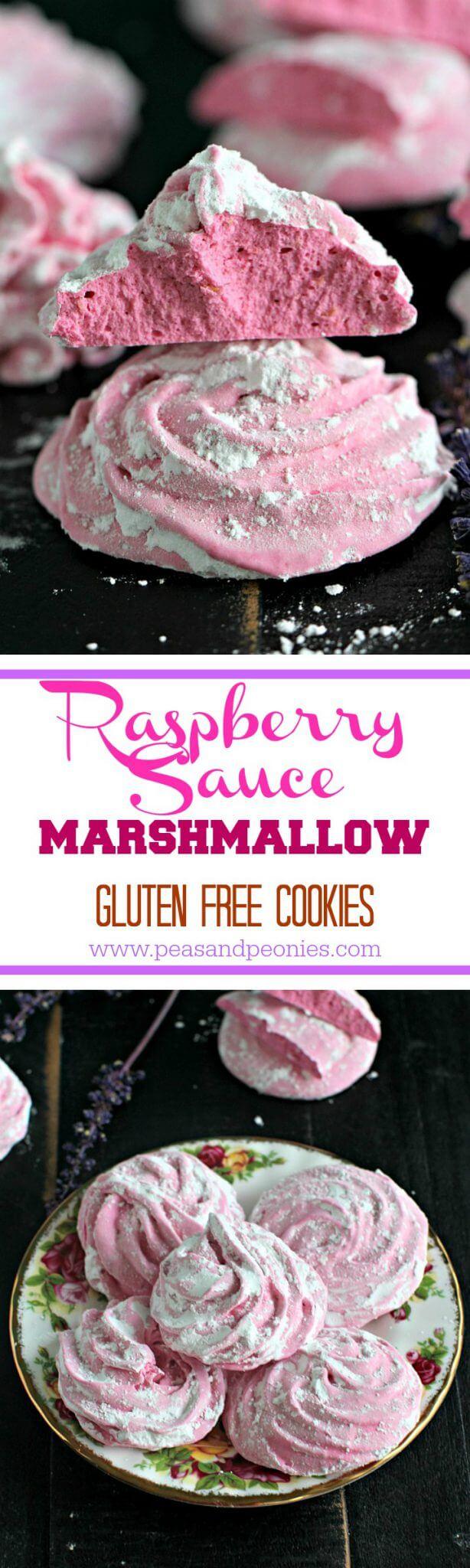 raspberry marshmallow cookies