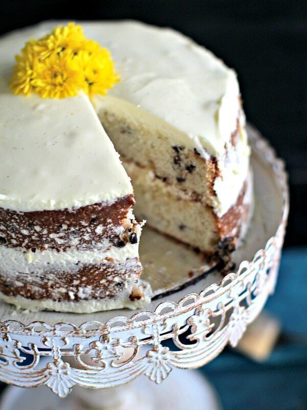 mascarpone chocolate chip banana cake