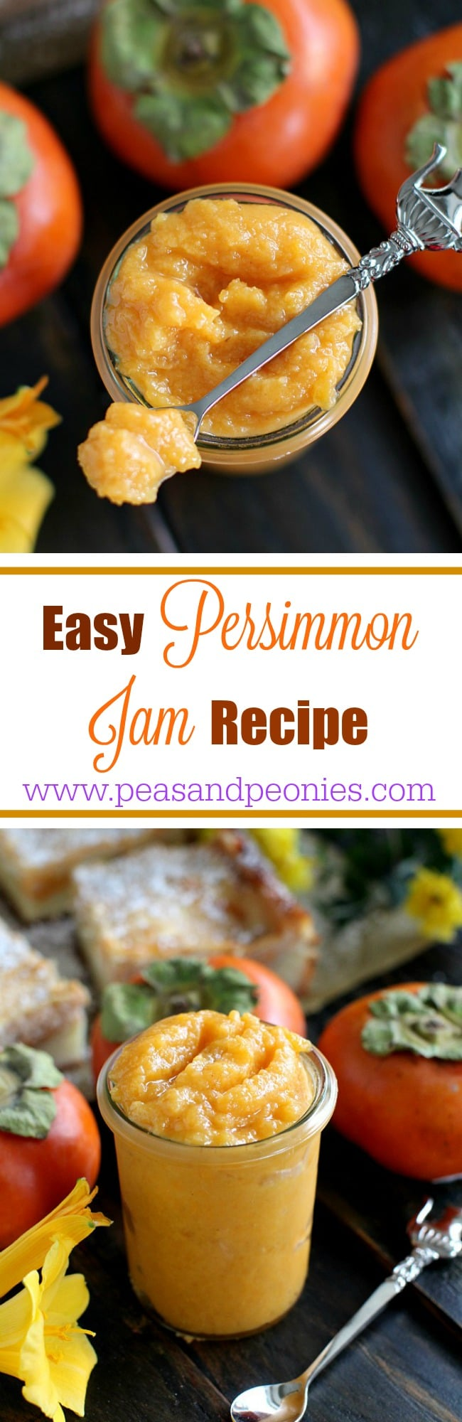 picture of persimmon jam for pinterest