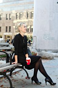 Kate Spade Black Sweater Dress