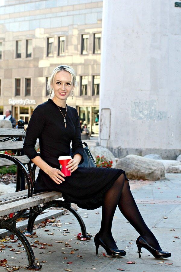 Kate Spade Black Sweater Dress