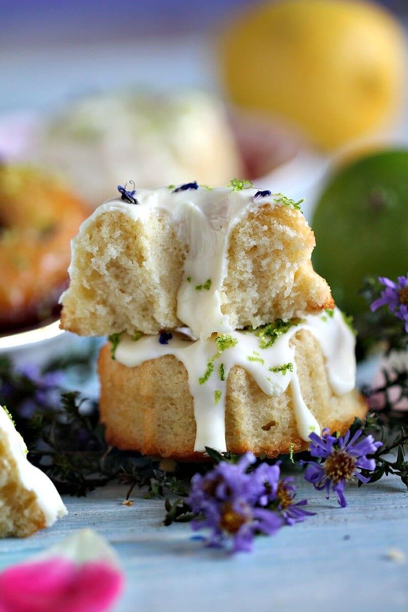 Lemon Lime Mini Bundt Cakes