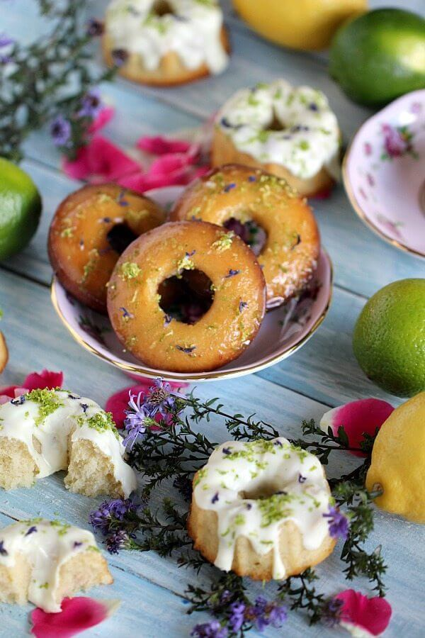 Lemon Lime Mini Bundt Cakes