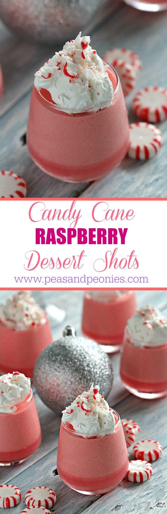Candy Cane Raspberry Dessert Shots