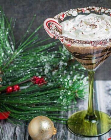 Candy Cane Chocolate Martini