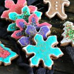 Neon Chocolate Sugar Cookies