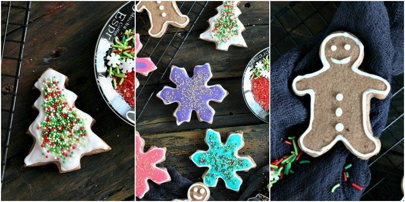 Neon Chocolate Sugar Cookies