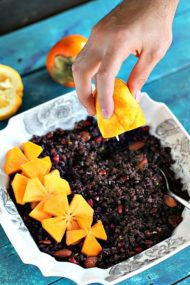 Wild Rice Pomegranate Orange Salad