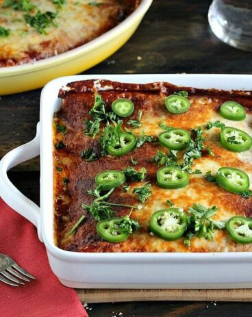 BBQ Chicken Enchiladas with Mushrooms