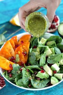 Persimmon Avocado Pomegranate Salad