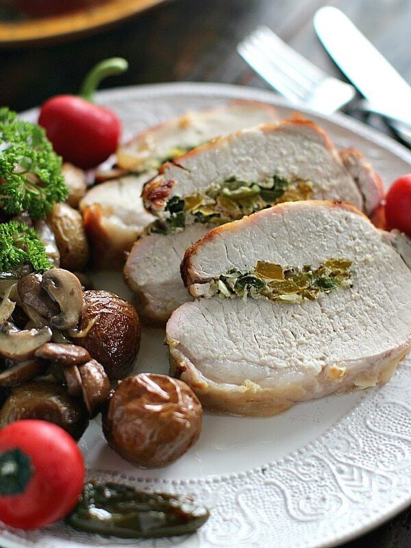 Garlic Jalapeno Stuffed Pork Loin