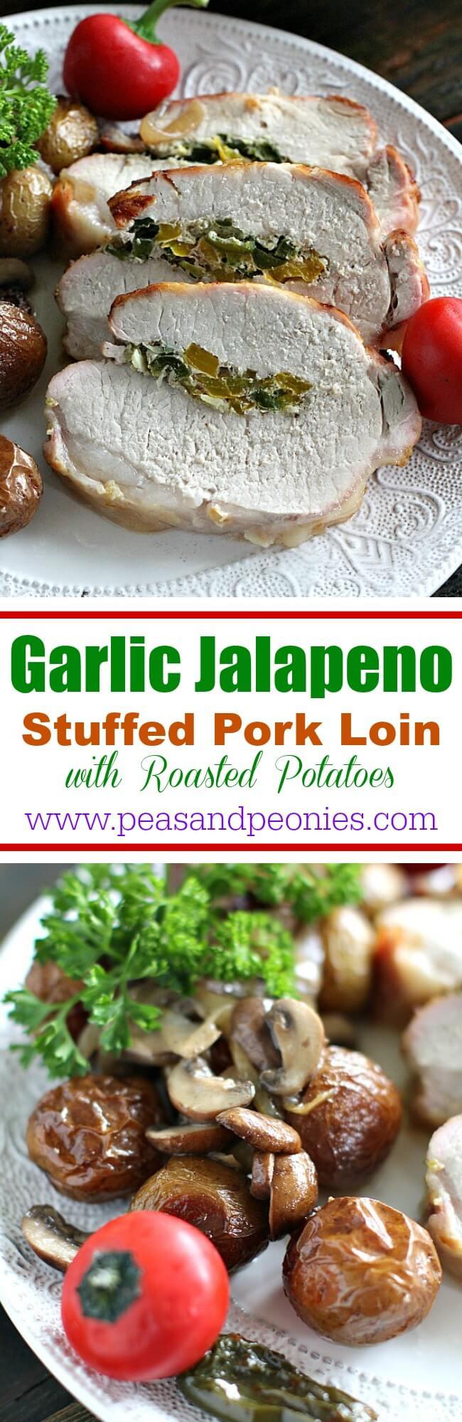 Garlic Jalapeno Stuffed Pork Loin