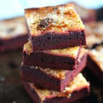 Red Velvet Creme Brulee Brownies are the perfect combo of rich, decadent chocolate, creamy vanilla and caramelized crunchy sugar.