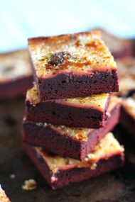 Red Velvet Creme Brûlée Brownies