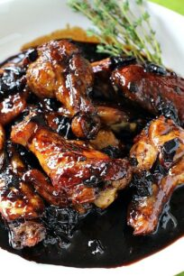sticky red wine glazed wings white wine sangria