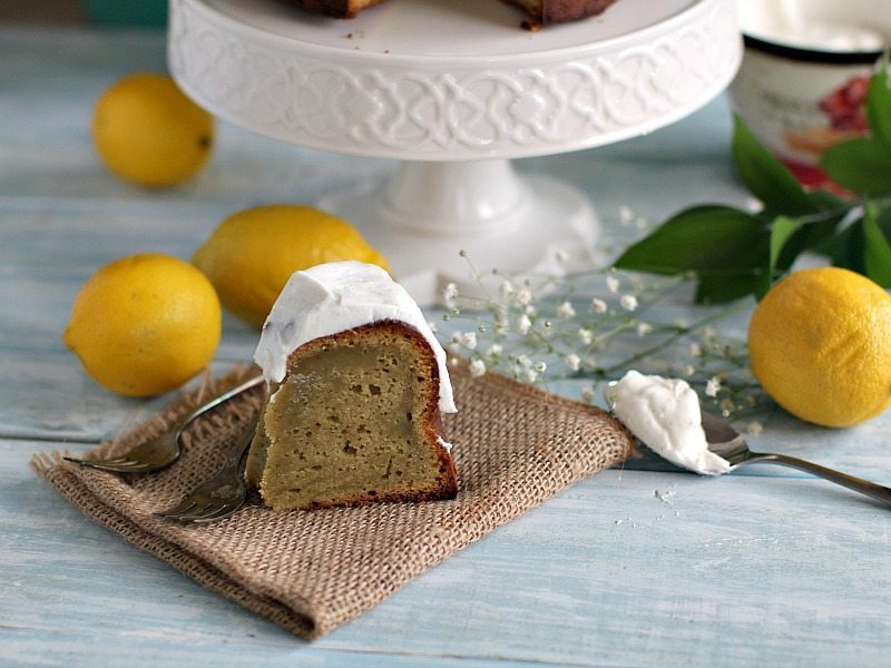 Avocado Ricotta Olive Oil Cake with Cream Cheese Frosting