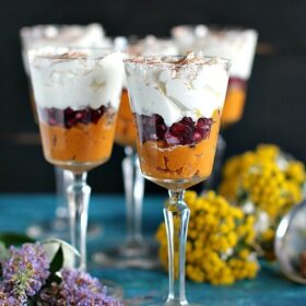 Healthy Roasted Butternut Squash Trifle is light and creamy while still on the healthy side. The Trifle is gluten free and loaded with beautiful flavors and textures.
