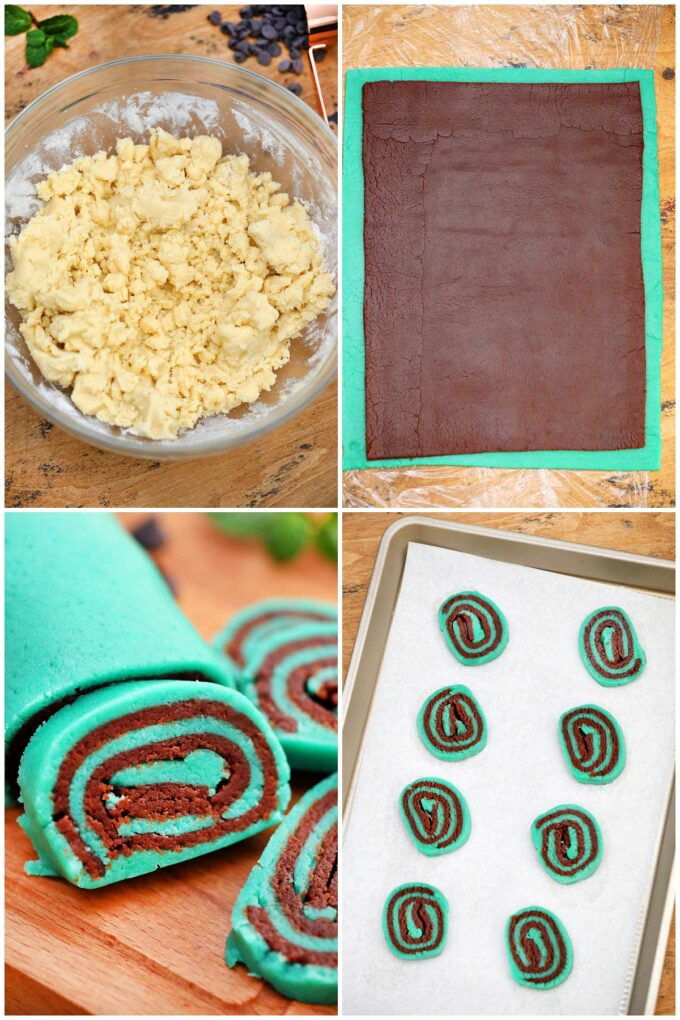 photo of mint chocolate cookies step by step