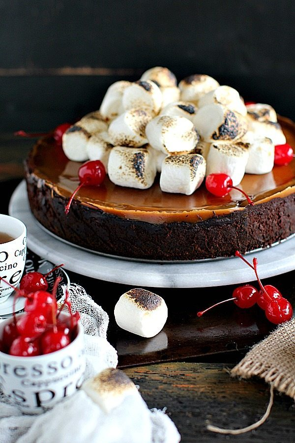 Marshmallow Chocolate Caramel Cheesecake
