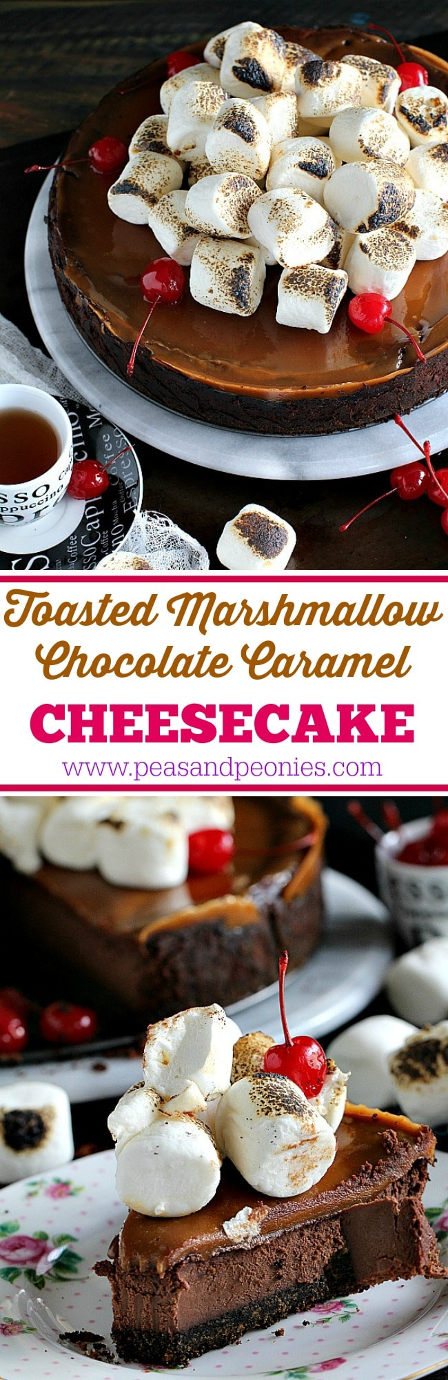 toasted marshmallow chocolate caramel cheesecake 6001