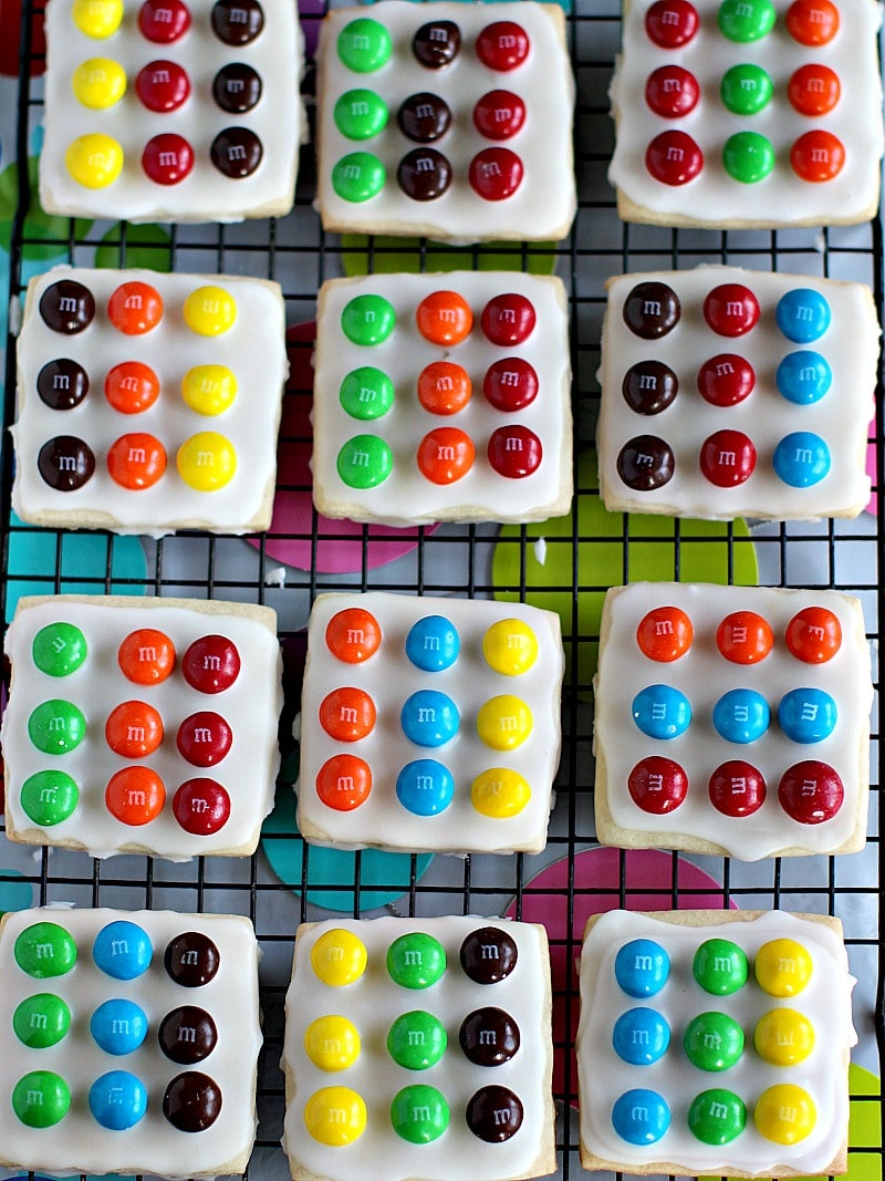 Easy M&M's Twister Cookies