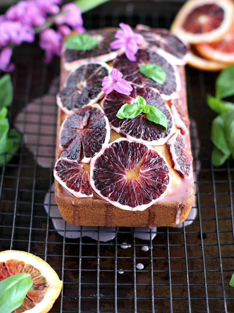Basil Blood Orange Pound Cake 8002